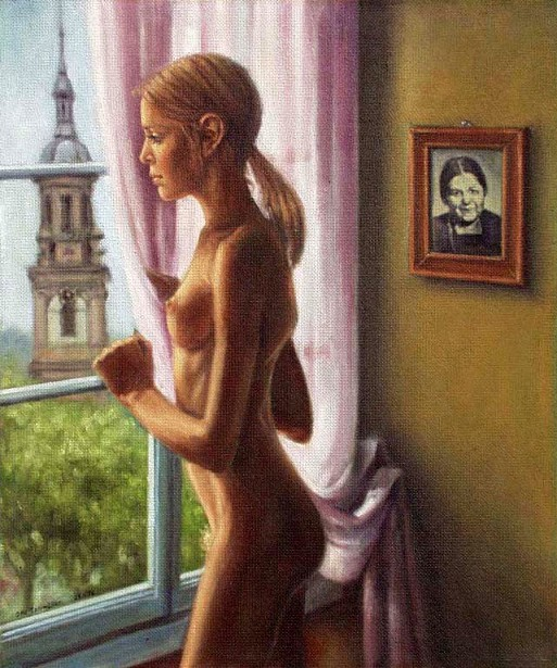 nude black full figure model