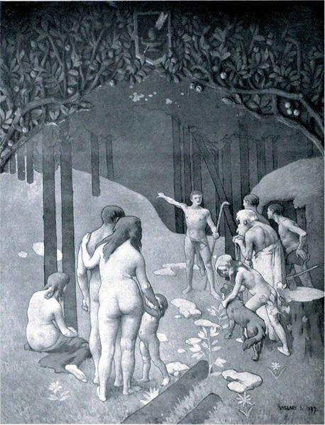 Die Kunde; by Janos Vaszary (1867-1939)