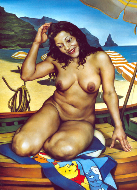Female Nude In A Boat