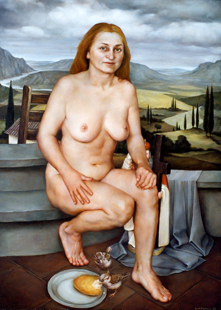 Female Nude In Landscape