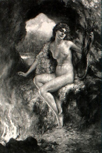 A Nymph With A Lyre