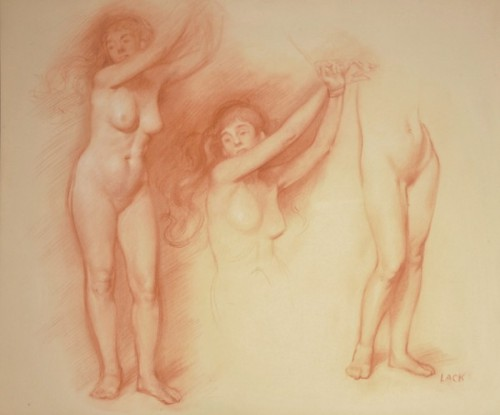 Female Nude, Study for Andromeda