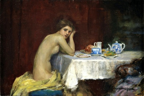 Nude At A Table