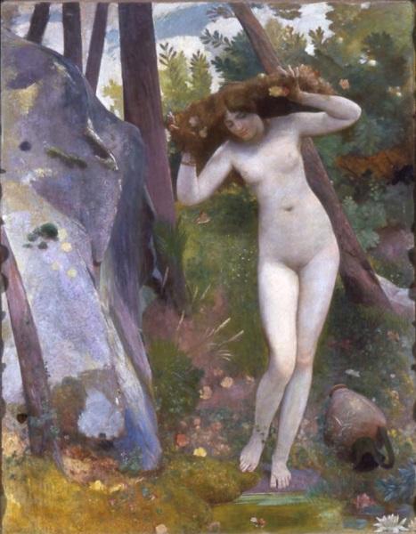 Alla fonte - La ninfa nel bosco
