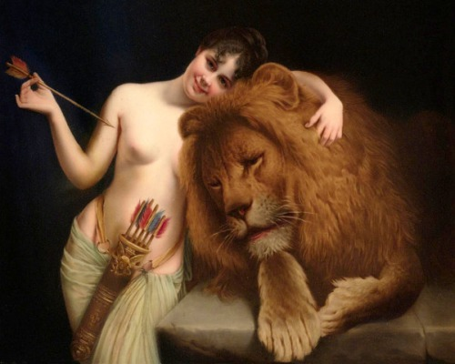 The Goddess Diana With A Lion