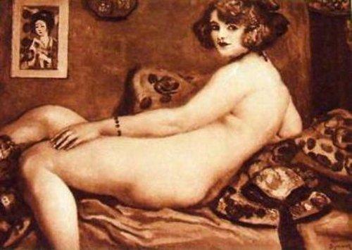 Jeune femme au divan