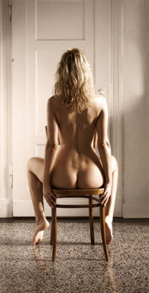 Stefanie On A Chair