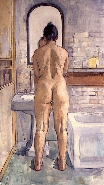 Back Nude (Bathroom Interior)