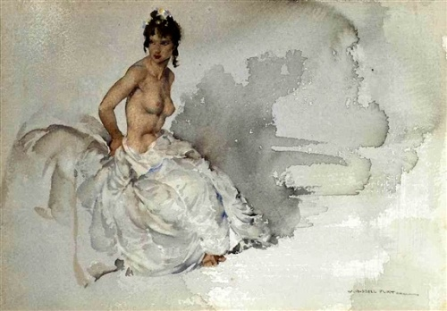 Cecilia, Semi-Nude, In White Dress