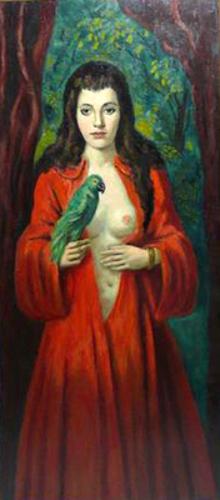 La fille au perroquet