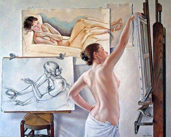 Painting by Francine Van Hove