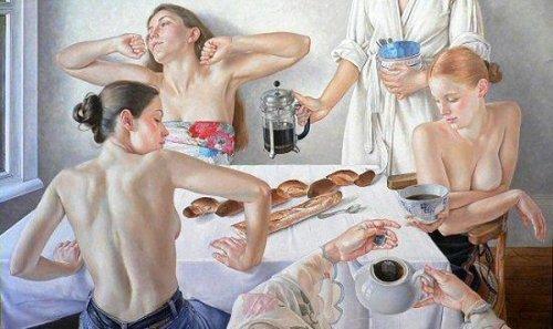 Le petit déjeuner aux baguettes