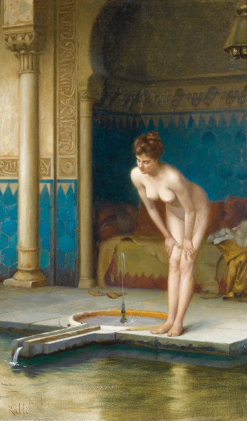 Jeune femme au bain