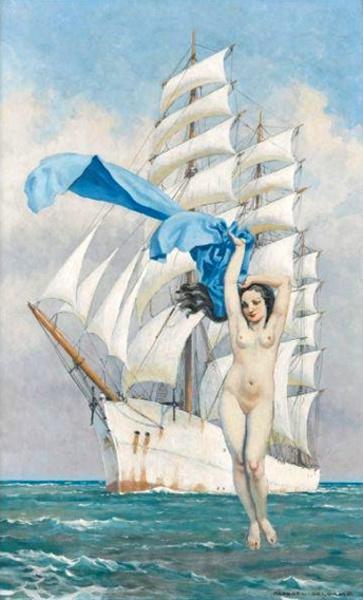 Vénus au voile bleu