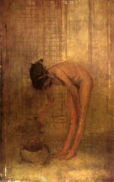 Nude Girl With A Bowl