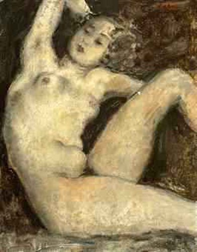 Seated Nude With Raised Arm