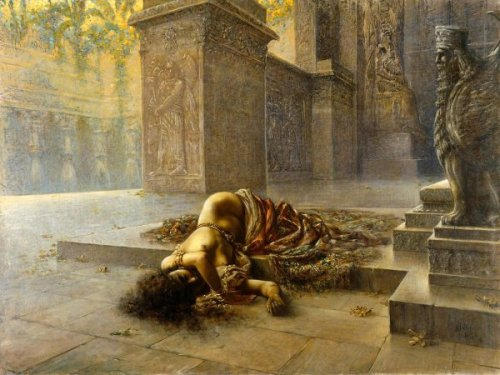 Semiramide morente sulla tomba di Nino