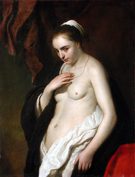 Study Of Half-Naked Woman