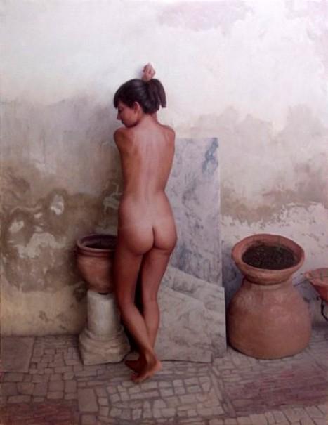 Desnudo en el patio - Sonia