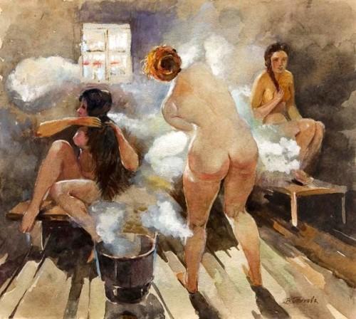 Girls In The Sauna