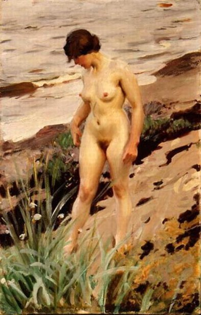 Nude By The Shore