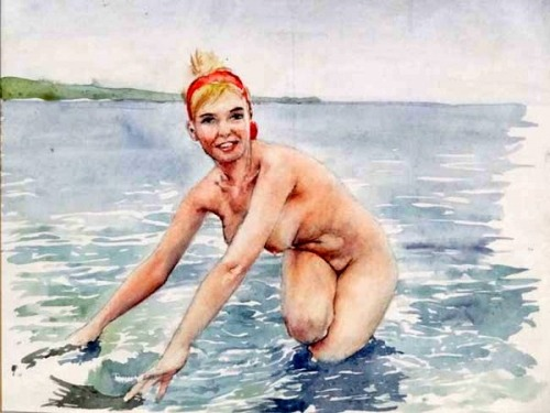 Nude In The Sea