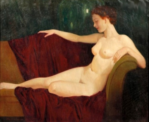 Nude On The Sofa