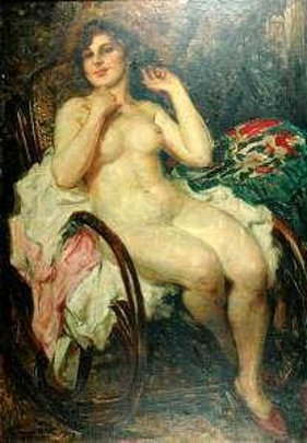 Nude Seated On Chair