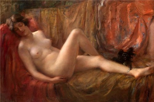 Nude With A Dog
