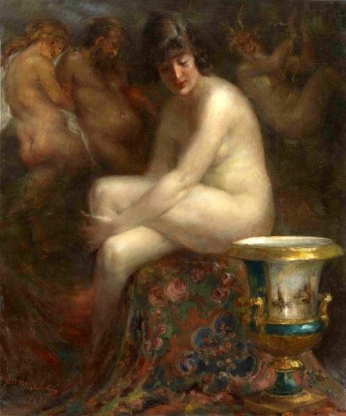 Nude With A Rubens Painting