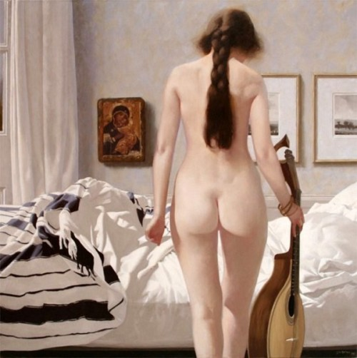 Nude With Mandolin