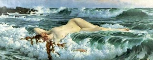 Venus Reclining In The Waves