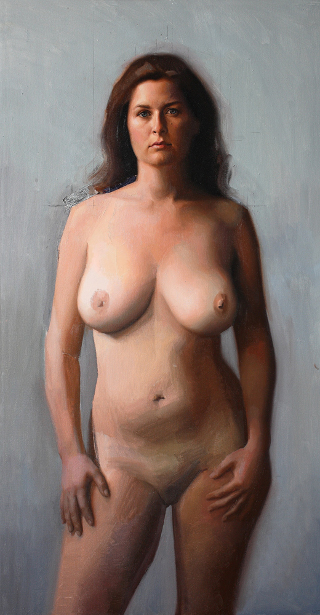 Distended mature nipples