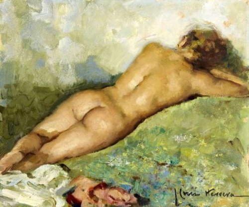 Reclining Nude From Behind