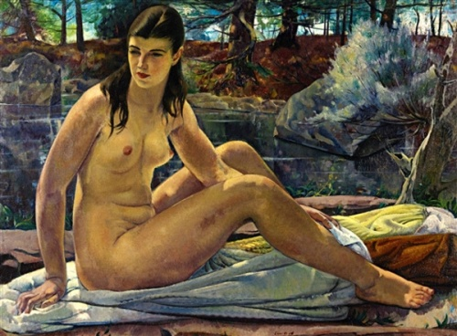 Seated Nude In A Landscape