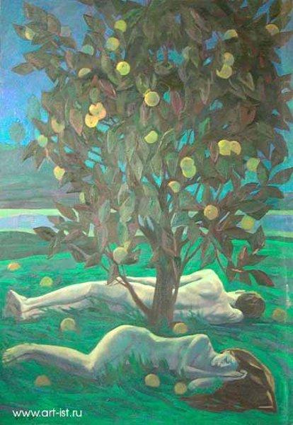 Sleeping Adam And Eve
