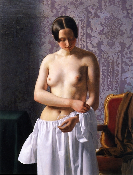 Study Of A Model - Young Girl Undressing