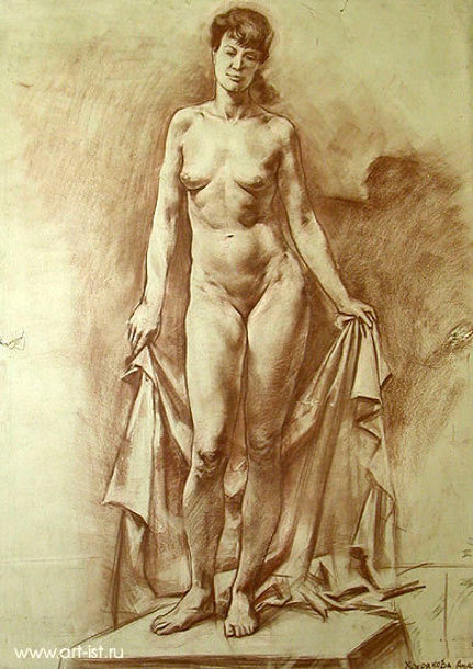 Woman With A Drapery