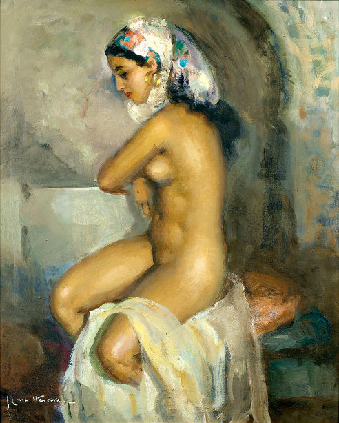 Young Odalisque At The Bath