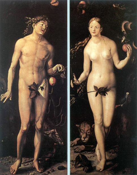 Adam And Eve (copy after Durer)