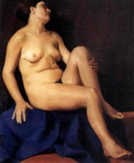 Nude On Blue Cloth