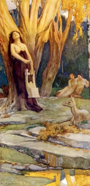 Orpheus In A Forest Charming Nymphs And Fauns With The Music From His Golden Lyre