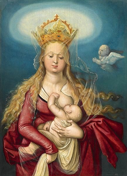 The Virgin As Queen Of Heaven Suckling The Infant Christ