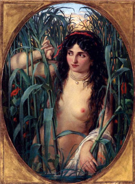 Beauty On The Nile - Young Woman In The Reeds