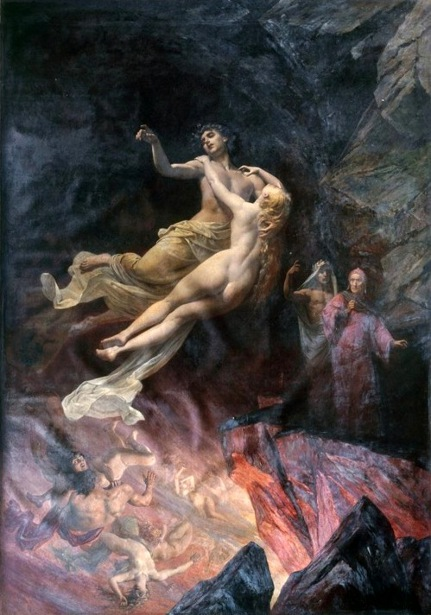 Dante and virgil in hell