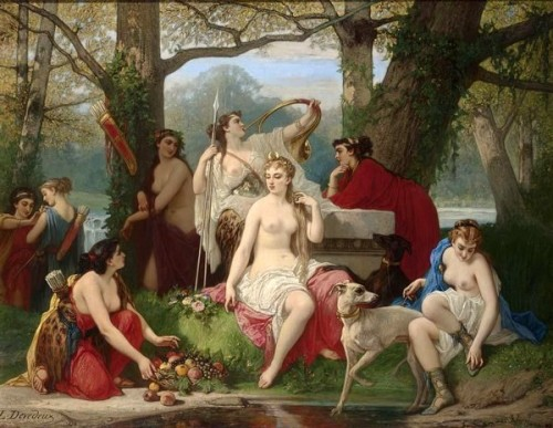 Diana Goddess Of The Hunt Surrounded By Her Servants