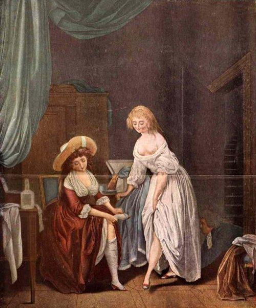 La comparaison des petits pieds (after L. Boilly)