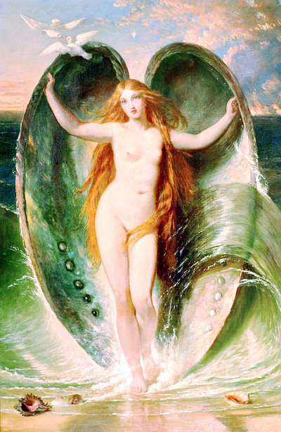 Mighty Aphrodite Rising Out Of The Sea Foam
