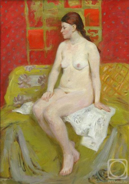 Nude On The Yellow And Red