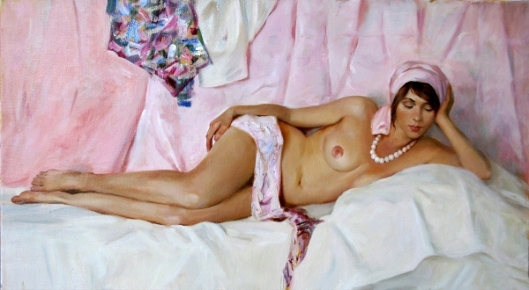 Nude With A Pink Turban